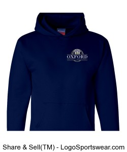 Navy Pullover Hoodie with OPM Logo Design Zoom
