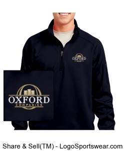 1/4-Zip Black Pullover with OC Logo Design Zoom