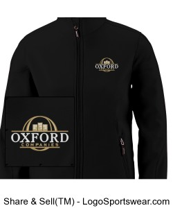 Ladies Soft Shell Jacket with OC Logo Design Zoom