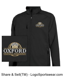 Mens Soft Shell Jacket with OPM Logo Design Zoom