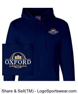 Navy Pullover Hoodie with OC Logo Design Zoom
